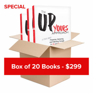 Up Yours - Box of 20 - by Craig Hillier